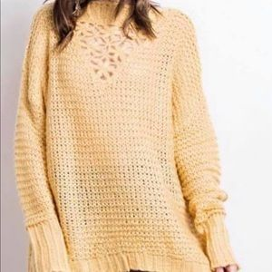 Yellow Sweater with Detail